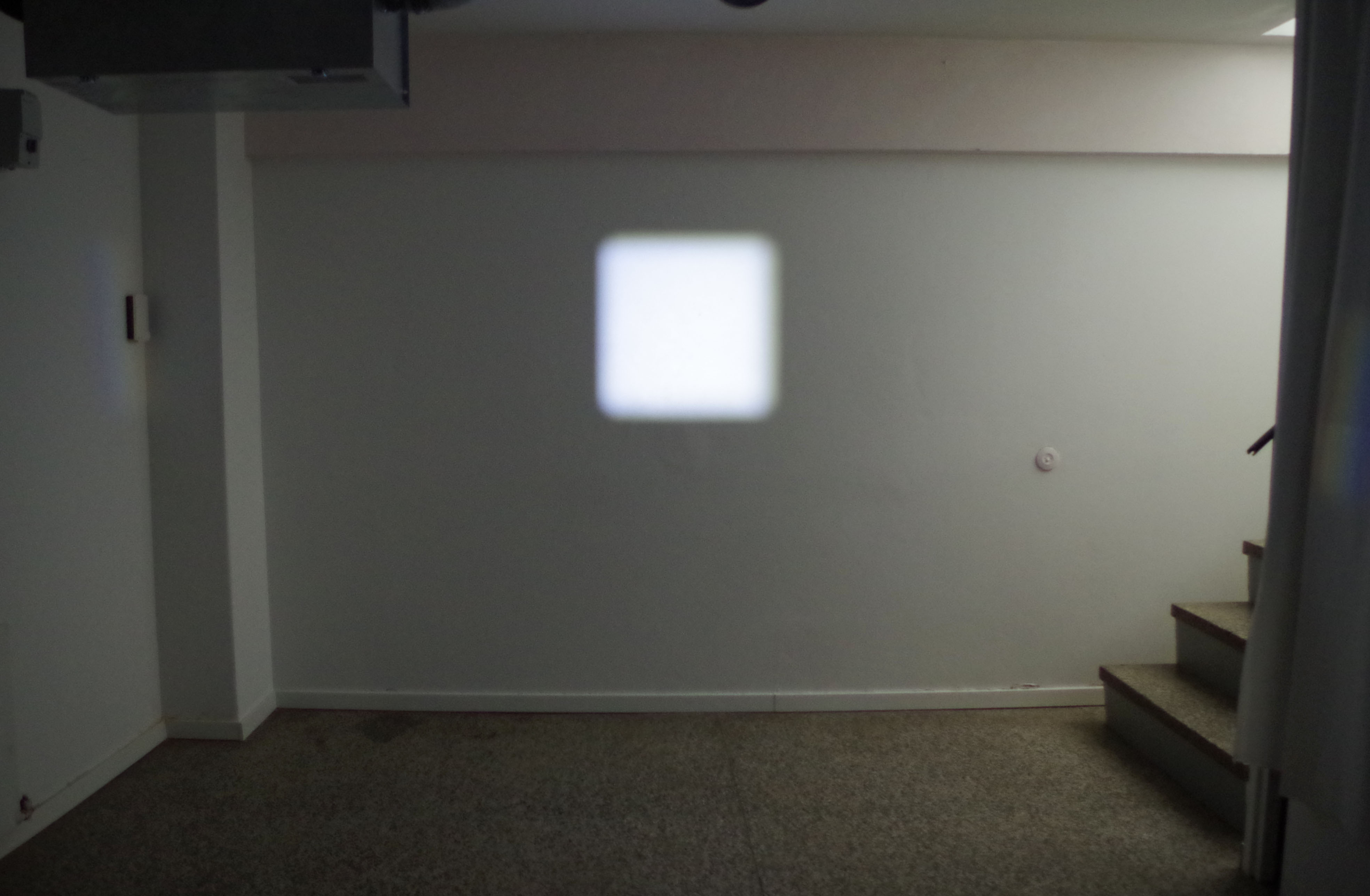 Without a title, installation, mirror, light spot, 2018